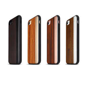 iPhone 7/8 , 7/8 Plus Straight Pattern Wooden TPU Series Case
