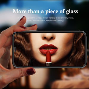 Kingxbar ® iPhone X 3D Mirror Effect Tempered Glass