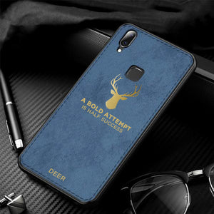 Galaxy M20 Luxury Gold Textured Deer Pattern Soft Case