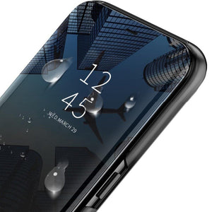Mi Poco X2 (2 in 1 Combo) Mirror Clear Flip Case + Earphones
