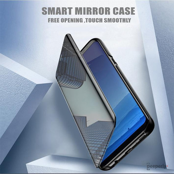 Redmi Note 6 Pro (2 in 1 Combo) Mirror Clear Flip Case + Earphones