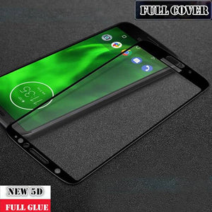 Moto G6 Plus Full Coverage 5D Tempered Glass