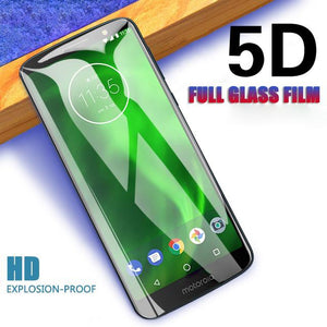 Moto One Power Full Coverage 5D Tempered Glass