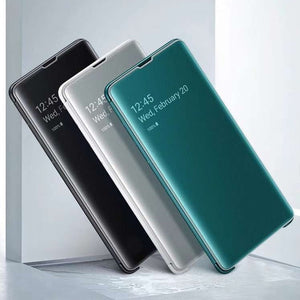 Galaxy Note 10 Mirror Clear View Flip Case [Non Sensor Working]