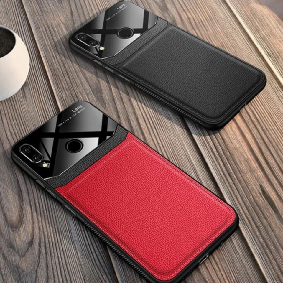 Redmi Note 7 Sleek Slim Leather Glass Case