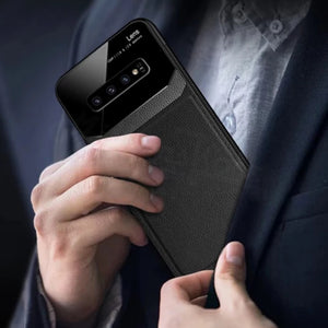 Galaxy Note 8 Sleek Slim Leather Glass Case
