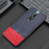 Oppo F11 Pro Two-tone Leather Textured Matte Case