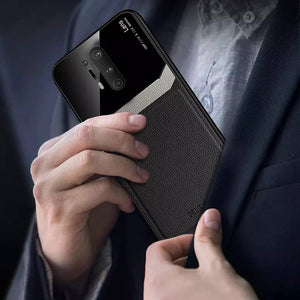 OnePlus 8 Pro Sleek Slim Leather Glass Case