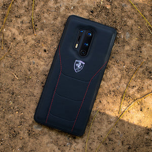 Ferrari ® Oneplus 8 Pro Genuine Leather Crafted Limited Edition Case