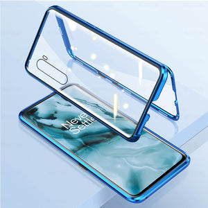 OnePlus Nord Electronic Auto-Fit (Front+ Back) Glass Magnetic Case