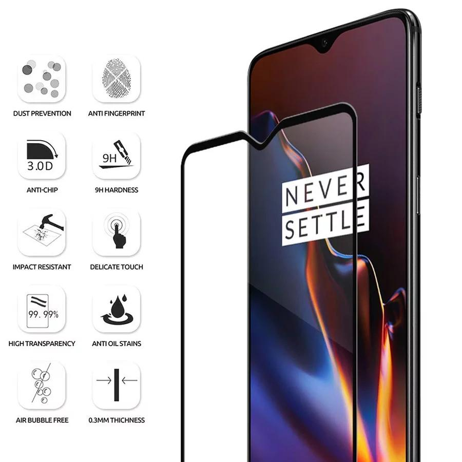 OnePlus 6T 5D Tempered Glass Screen Protector