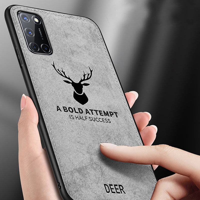 Oppo A52 Deer Pattern Inspirational Soft Case