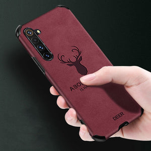 Oppo F15 Shockproof Deer Leather Texture Case
