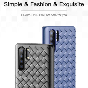 Oppo F15 Ultra-thin Grid Weaving Case