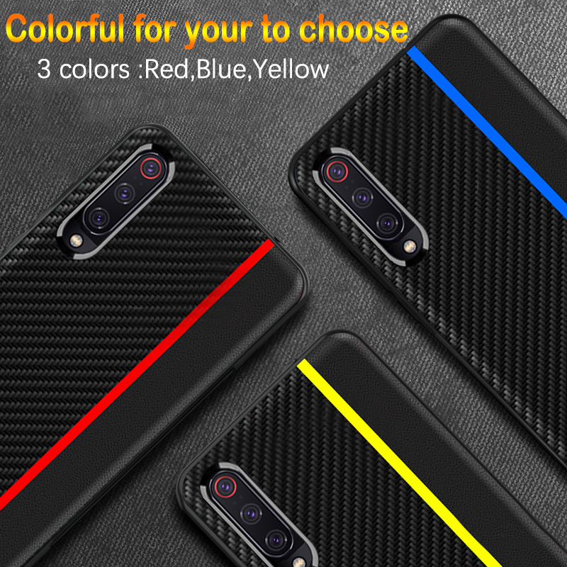 Galaxy A50 Frosted Carbon Fiber PU Leather Protective Case