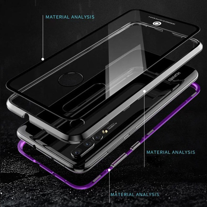 Mi Poco F1 Electronic Auto-Fit Magnetic Transparent Glass Case