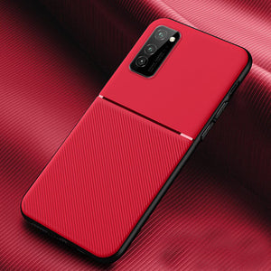Galaxy M21 Carbon Fiber Twill Pattern Soft TPU Case