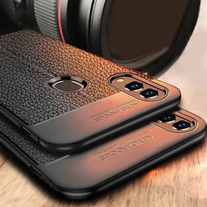 Redmi Note 7S Auto Focus Leather Texture Case