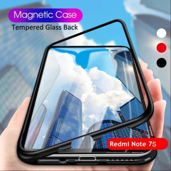 Redmi Note 7S Electronic Auto-Fit Magnetic Transparent Glass Case