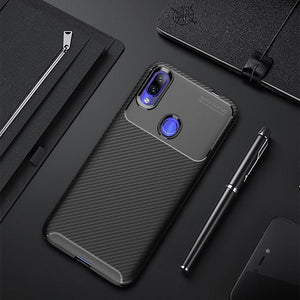 Redmi Note 7 Frosted Carbon Fiber Shockproof Soft Case
