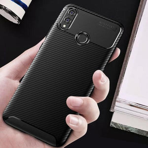 Galaxy A30 Frosted Carbon Fiber Shockproof Soft Case