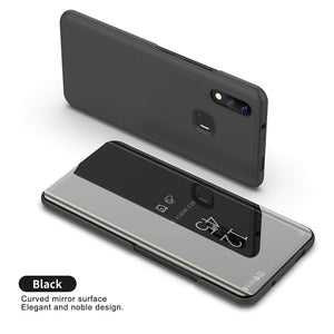 Redmi Note 7 Mirror Clear View Flip Case [Non Sensor Working]
