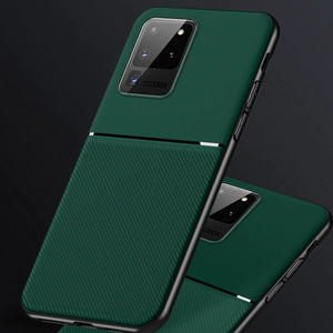 Galaxy S20 Ultra Carbon Fiber Twill Pattern Soft TPU Case
