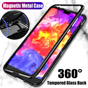 Galaxy S9 Plus Electronic Auto-Fit Magnetic Transparent Glass Case