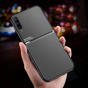 Galaxy A50s Carbon Fiber Twill Pattern Soft TPU Case