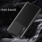 Galaxy A50 Frosted Carbon Fiber Shockproof Soft Case