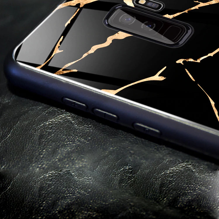 Mofi ® Gold Dust Texture Marble Glass Case
