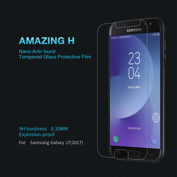 Galaxy J7 Pro Ultra-thin Transparent Tempered Glass