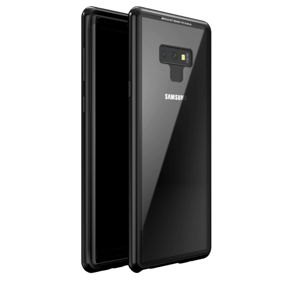 Galaxy Note 8 & Note 9 Electronic Auto-Fit Tempered Glass Magnetic Case