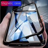 Galaxy S8 Electronic Auto-Fit Tempered Glass Magnetic Case