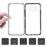 Galaxy C7 Pro Electronic Auto-Fit Magnetic Glass Case