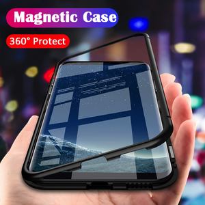 Galaxy C9 Pro Electronic Auto-Fit Magnetic Glass Case