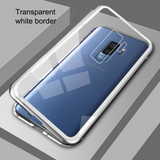 Galaxy A6 Plus Electronic Auto-Fit Magnetic Transparent Glass Case