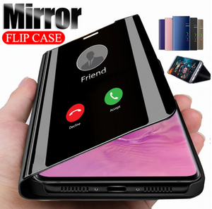 [3 in 1 Combo] Galaxy M31 Clear View Flip Case + Tempered Glass + Earphones