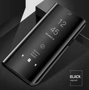 [3 in 1 Combo] Note 8 Pro Clear View Flip Case + Tempered Glass + Earphones
