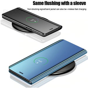 [3 in 1 Combo] Oppo Reno 2Z Clear View Flip Case + Tempered Glass + Earphones