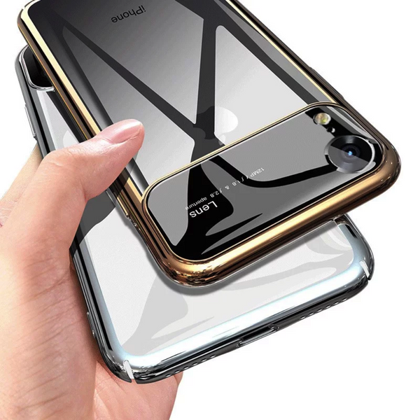 TOTU ® iPhone XR Polarized Lens Mirror Transparent Hard Case