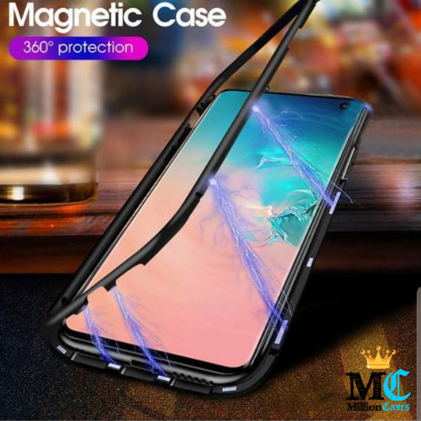 Galaxy S10 Plus Electronic Auto-Fit Magnetic Glass Case