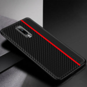OnePlus 7 Pro Frosted Carbon Fiber PU Leather Protective Case