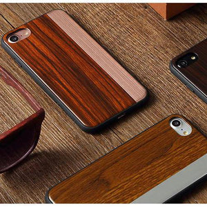 iPhone 7 Plus Straight Pattern Wooden TPU Series Case
