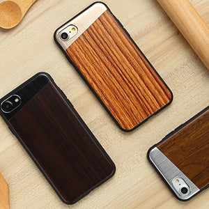 iPhone 7 Plus Oblique Aluminium Wooden Series Vintage Case