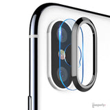TOTU ® iPhone X Camera Lens Glass Protector and Ring