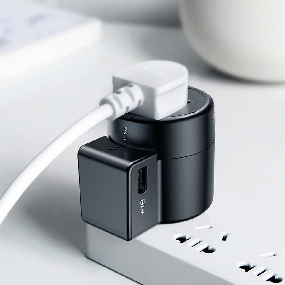 Baseus ® Rotatable Travel Adapter Universal Charger