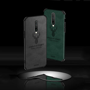 Oppo Reno 2Z Shockproof Deer Leather Texture Case