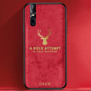 Vivo V15 Pro Luxury Gold Textured Deer Pattern Soft Case