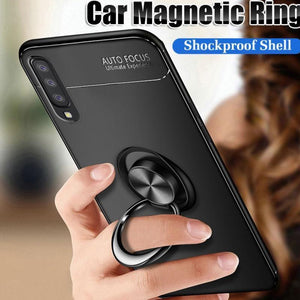Vivo S1 Metallic Finger Ring Holder Matte Case